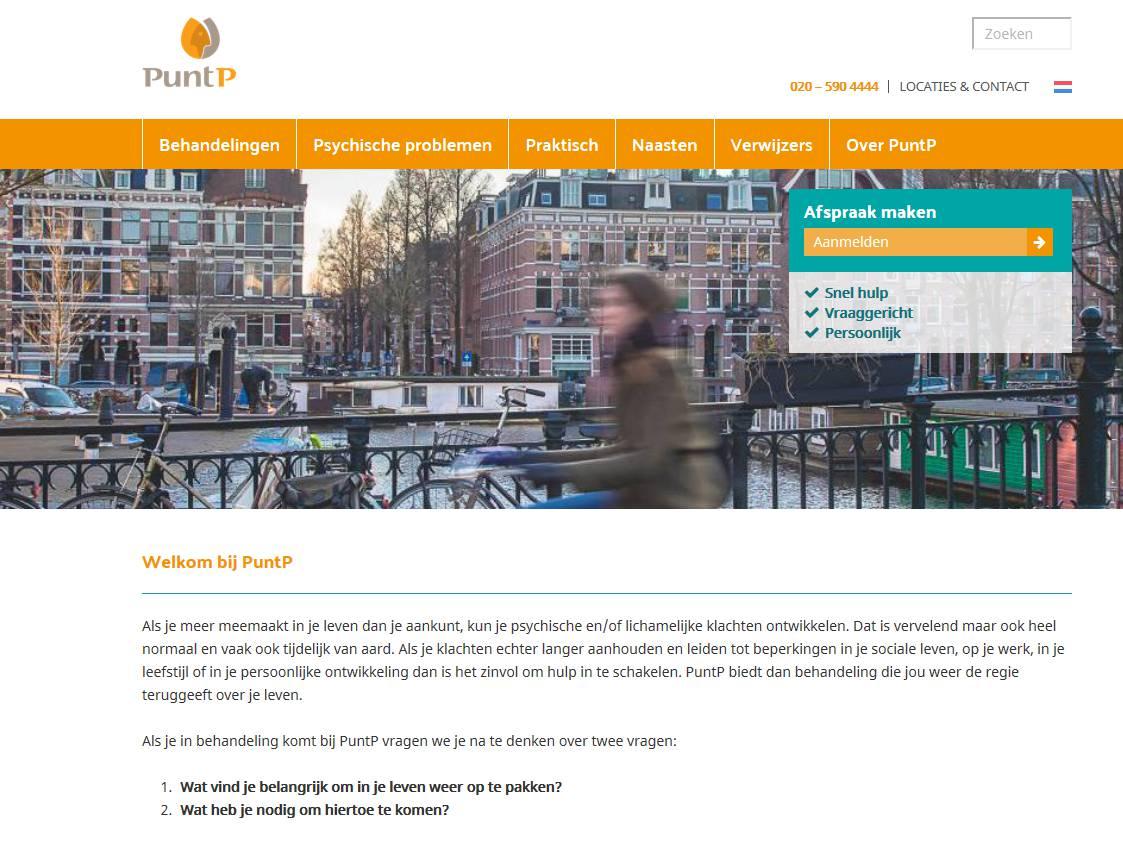 Foto nieuwe website PuntP
